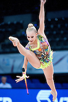 September 10, 2015 - Stuttgart, Germany - YANA KUDRYAVTSEVA of Russia performs during AA qualifications at 2015 World Championships.