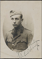 BNPs.co.uk (01202 558833)<br /> Pic: Bonhams/BNPS<br /> <br /> A WWI signed photograph of Walt Disney, estimate &pound;23,000.<br /> <br /> A one-of-a-kind scrapbook containing legendary cartoonist Walt Disney's earliest drawings that hint at the origins of Mickey Mouse has emerged for sale for a staggering &pound;130,000.<br /> <br /> The incredible notebook features five pages of patriotic WWI artwork drawn by Disney in 1918 when he was just a 17-year-old amateur cartoonist.<br /> <br /> Disney drew the sketches in a scrapbook handed out by the Chicago Public Library to families of First World War servicemen - and experts say they are the earliest Disney drawings ever to come to market. <br /> <br /> The scrapbook is tipped to fetch $200,000 - around &pound;130,000 - when it goes under the hammer at Bonhams auctioneers on November 23.