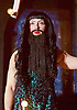 Side Show <br /> at Southwark Playhouse, London, Great Britain <br /> 25th October 2016 <br /> <br /> <br /> Lala Barlow as Bearded Lady<br /> <br /> Side Show is presented by Paul Taylor-Mills<br /> Music composed by Henry Krieger<br /> Book and Lyrics by Bill Russell<br /> Additional Book material is by Bill Condon<br /> Directed by Hannah Chissick<br /> Choreography by Matthew Cole <br /> Design by takis <br /> Musical direction by Jo Cichonska<br /> Sound design by Dan Simpson<br /> <br /> <br /> Photograph by Elliott Franks <br /> Image licensed to Elliott Franks Photography Services
