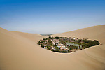 The desert oasis of Huacachina, Peru.