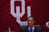 New York, NY - December 10, 2016: Oklahoma wide receiver Dede Westbrook speaks to members of the media during a news conference for the Heisman Trophy finalists at the New York Marriott Marquis, December 10, 2016. (Photo by Don Baxter/Media Images International)