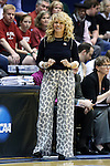 22 March 2014: Oklahoma head coach Sherri Coale. The DePaul University Blue Demon played the University of Oklahoma Sooners in an NCAA Division I Women's Basketball Tournament First Round game at Cameron Indoor Stadium in Durham, North Carolina. DePaul won the game 104-100.