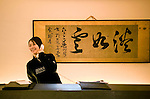 A staffer takes a reservation in the reception area of Sekka Dining  in Hirafu in the Niseko ski region of Hokkaido, Japan on Feb. 8 2010.