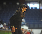 "Southeastern Louisiana coach Lori Davis Jones against Ole Miss at the C.M. ""Tad"" Smith Coliseum in Oxford, Miss. on Saturday, December 11, 2010."