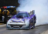 Jun 18, 2016; Bristol, TN, USA; NHRA funny car driver Jack Beckman during qualifying for the Thunder Valley Nationals at Bristol Dragway. Mandatory Credit: Mark J. Rebilas-USA TODAY Sports