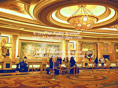 """From the moment you walk through the doors of Caesars Palace, you know you've arrived at the most prestigious resort in the world. Impeccable service. Luxury. All the little details that make the difference between an ordinary visit and a spectacular experience are yours.""  http://www.harrahs.com/casinos/caesars-palace/casino-misc/hotel-overview.html.."