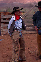 Dugout herd owner Heidi Redd runs about 700 head of cattle on public land near Moab, Utah. Redd is a tough, no-nonsense rancher who oversees the operation and and works with other cowboys when they are branding calves.  Many Western ranchers depend heavily on BLM allotments, where grazing fees remain far lower than on state or private lands.