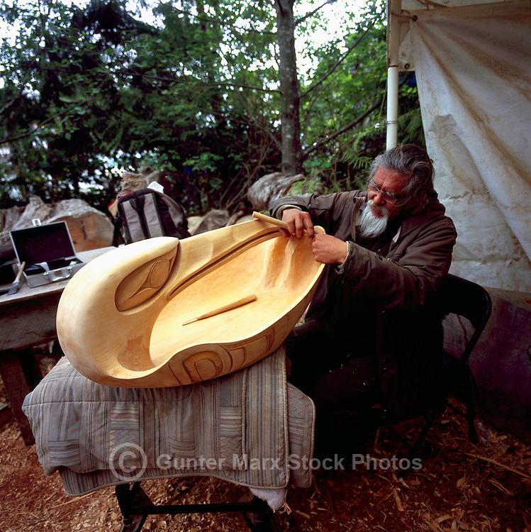 First nations indian artist wood carver tofino bc pictures