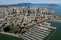 aerial photograph Giant's stadium San Francisco skyline