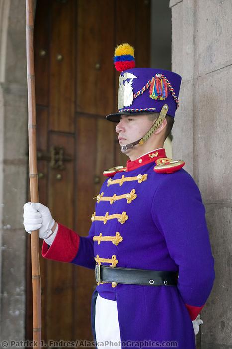 Guards at the Placia del Gobierno, Quito, Ecuador