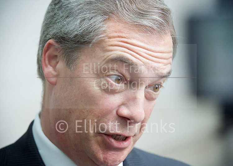 Andrew Marr Show departures<br /> BBC, Broadcasting House, London, Great Britain <br /> 12th March 2017 <br /> <br /> <br /> Nigel Farage MEP <br /> <br /> Photograph by Elliott Franks <br /> Image licensed to Elliott Franks Photography Services