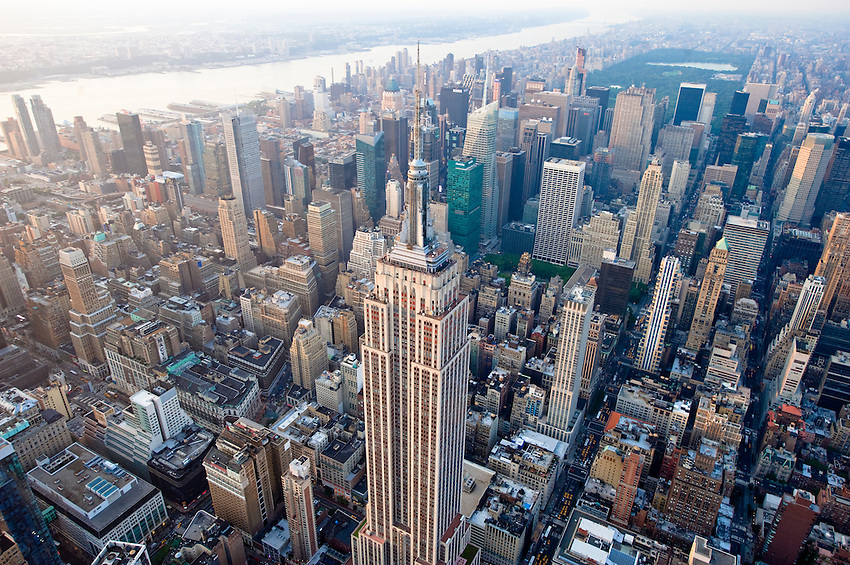 Empire State Building Midtown Aerial Keith Sherwood
