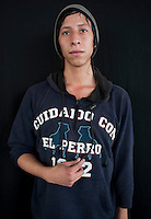 Abraham Sosa Rubio, 20 years old. Portraits of Adolescents San Cosme skate park, in Mexico City. Release #13