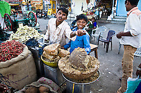 Cheerful sugar vendors in a village in Rajasthan. (Photo by Matt Considine - Images of Asia Collection)