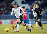 Inverness Caledonian Thistle v St Johnstone...24.10.15  SPFL  Tulloch Stadium, Inverness<br /> Michael O'Halloran is fouled by Ryan Christie<br /> Picture by Graeme Hart.<br /> Copyright Perthshire Picture Agency<br /> Tel: 01738 623350  Mobile: 07990 594431