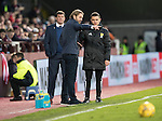 Hearts v St Johnstone&hellip;05.11.16  Tynecastle   SPFL<br />Hearts manager Robbie Neilson complains to fourth official Nick Walsh<br />Picture by Graeme Hart.<br />Copyright Perthshire Picture Agency<br />Tel: 01738 623350  Mobile: 07990 594431