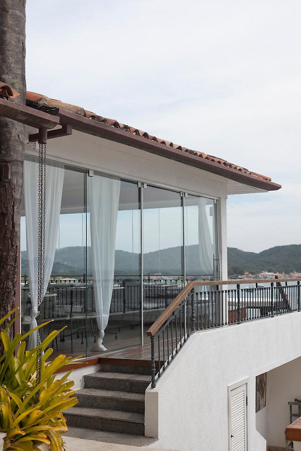 Cafe Atlantico with a view of Buzios Bay at Casa Brancas Boutique Hotel and Spa