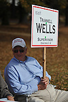 Trammell Wells, supervisor District 4 candidate, holds a sign outside the polls at the Chamber of Commerce in Oxford, Miss. on Tuesday, November 8, 2011. Mississippians go to the polls today for state and local elections, as well as referendums including the so-called Personhood Amendment.