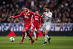 Vicente Iborra de la Fuente (l) of Sevilla FC fights for the ball with Marco Asensio Willemsen of Real Madrid during their Copa del Rey Round of 16 match between Real Madrid and Sevilla FC at the Santiago Bernabeu Stadium on 04 January 2017 in Madrid, Spain. Photo by Diego Gonzalez Souto / Power Sport Images