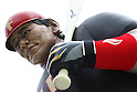 "Apr 2, 2010 - Tokyo, Japan - A giant statue of Japanese professional baseball player Hideki Matsui is erected in front of JR Shinjuku station in Tokyo, Japan as an advertisement for the coffee ""Fire"" by Kirin Beverage."