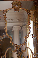 A reflection of the neo-classical columns that seperate the two sides of the drawing room