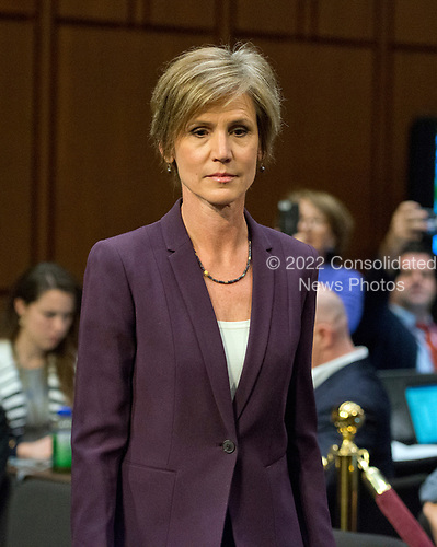 Former Acting Attorney General of the United States Sally Q. Yates arrives to give testimony before the US Senate Committee on the Judiciary Subcommittee on Crime and Terrorism hearing titled &ldquo;Russian Interference in the 2016 United States Election&rdquo; on Capitol Hill in Washington, DC on Monday, May 8, 2017.<br /> Credit: Ron Sachs / CNP<br /> (RESTRICTION: NO New York or New Jersey Newspapers or newspapers within a 75 mile radius of New York City)