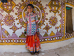 Portrait of a young Meghwal girl, Gujarat, India