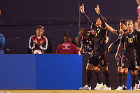 Mexico forward Aldo De Nigris (9) celebrates his goal with teammates. The national teams of Mexico and Venezuela played to a 1-1 draw in an International friendly match at  Qualcomm stadium in San Diego, California on  March 29, 2011...