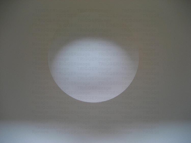 A macro shot of a white ball
