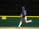 Texas Rangers'  Jake Somlinksi rounds the bases after hitting a two-run homer against the Seattle Mariners in the third inning at SAFECO Field in Seattle on April 10, 2015.  The Mariners came from behind to beat the Rangers 11-10.  Jim Bryant Photo. ©2015. All Rights Reserved.