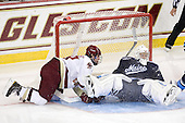 Chris Kreider (BC - 19), Dan Sullivan (Maine - 30) - The Boston College Eagles defeated the visiting University of Maine Black Bears 4-1 on Sunday, November 21, 2010, at Conte Forum in Chestnut Hill, Massachusetts.