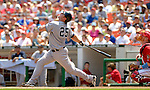 18 June 2006: Jason Giambi, first baseman for the New York Yankees, in action against the Washington Nationals at RFK Stadium, in Washington, DC. The Nationals defeated the Yankees 3-2 in the third game of the interleague series...Mandatory Photo Credit: Ed Wolfstein Photo...
