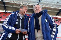 FUSSBALL   1. BUNDESLIGA  SAISON 2012/2013   10. Spieltag 1. FC Nuernberg - VfL Wolfsburg      03.11.2012 Co Trainer Andres Jonker mit Trainer Lorenz Guenther Koestner (v. li., VfL Wolfsburg)