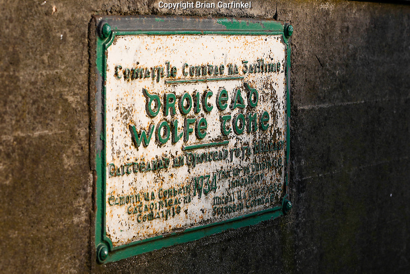 A sign in Gaelic on a bridge over the River Corrib in Galway, County Galway, Ireland on Monday, June 24th 2013. (Photo by Brian Garfinkel)