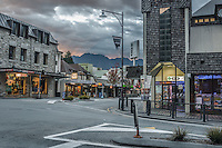 Morning in streets of Queenstown, Central Otago, South Island, New Zealand