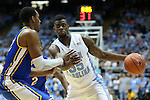 22 December 2012: North Carolina's Reggie Bullock (35) and McNeese State's Desharick Guidry (left). The University of North Carolina Tar Heels played the McNeese State University Cowboys at the Dean E. Smith Center in Chapel Hill, North Carolina in an NCAA Division I Men's college basketball game. UNC won the game 97-63.