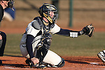 CARY, NC - MARCH 04: Notre Dame's Ryan Lidge. The University of Rhode Island Rams played the University of Notre Dame Fighting Irish on March 4, 2017, at USA Baseball NTC Field 3 in Cary, NC in a Division I College Baseball game, and part of the Irish Classic tournament. Notre Dame won the game 8-4.