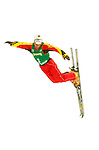 14 January 2005 - Lake Placid, New York, USA - Xiaopeng Han from China competes in the FIS World Cup Aerial acrobatic competition at the MacKenzie-Intervale Ski Jumping Complex, in Lake Placid, NY. Han ended the day in 13th place after a weather induced one-jump competition...Mandatory Credit: Ed Wolfstein Photo.