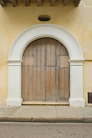 Colonial doors, Cartagena de Indias, Bolivar Department,, Colombia, South America.