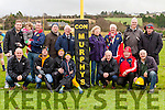 Jim Kelly, father of Liam Kelly, Manager of Con Murphy's Bar Philadelphia, USA, was on hand on Sunday last at the Grove, to kindly present goalpost pads to Abbeyfeale RFC. Also on hand to accept the pads, was Denis Murphy, Club Treasurer and brother of the late Con Murphy after which the bar is named.<br /> Attending the presentation of the goalpost pads are <br /> L-R Conor Prendiville, Ian &amp; Sophia McMahon, Patsy Prendiville, Club Chairman Barney McMahon, Elsanne McMahon, Jim Kelly, John Tobin, Maurice Flynn, <br /> Front: David Prendiville, Barry Murphy, Ricky Daly, Freddie Prendiville, Club Treasurer Denis Murphy, Gareth Harnett &amp; Club President Maurice Cotter .
