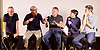 Peter Hook, Mike Pickering and Graeme Park reunited for a special event ahead of the release of the HACIENDA CLASSICAL album (on 21st Oct 2016) this month, and the airing of the HACIENDA HOUSE ORCHESTRA documentary on Channel 4.<br /> 13th October 2016 <br /> Central London, Great Britain <br /> <br /> Peter Hook is executive producer of HACIENDA CLASSICAL.  It takes the un-mistakeable sound of legendary Manchester club FAC 51 The Hacienda, and puts a symphonic spin on classics such as 'You've Got the Love' and 'Ride on Time'. The album follows unprecedented demand for live HACIENDA CLASSICAL shows, including a Royal Albert Hall concert which sold out in minutes<br /> <br /> <br /> Mike Pickering<br /> Graeme Park<br /> Peter Hook<br /> <br /> <br /> Photograph by Elliott Franks <br /> Image licensed to Elliott Franks Photography Services