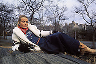 New York, NY, December 1974. Margaux Hemingway, granddaughter of writer Ernest Hemingway, and sister of the actress Mariel, has been the first fashion model who has been awarded a million dollars contract, by the company Faberg&eacute;, in 1970. <br /> On June 1975 she appeared on the cover of TIME who dubbed her one of the new beauties of the Planet. She died in Santa Monica, CA, on July 1, 1996 at age 42, committing suicide.