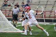 College Park, MD - February 25, 2017: Maryland Terrapins Colin Heacock (2) makes a move on a Yale Bulldogs defender during game between Yale and Maryland at  Capital One Field at Maryland Stadium in College Park, MD.  (Photo by Elliott Brown/Media Images International)