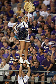 Sept 01, 2012:  Washington cheerleader Sarah Madsen against San Diego State.  Washington defeated San Diego State 21-12 at CenturyLink Field in Seattle, Washington...