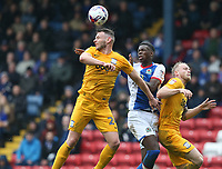 Preston North End's Andy Boyle and Blackburn Rovers' Lucas Joao<br /> <br /> Photographer Stephen White/CameraSport<br /> <br /> The EFL Sky Bet Championship - Blackburn Rovers v Preston North End - Saturday 18th March 2017 - Ewood Park - Blackburn<br /> <br /> World Copyright &copy; 2017 CameraSport. All rights reserved. 43 Linden Ave. Countesthorpe. Leicester. England. LE8 5PG - Tel: +44 (0) 116 277 4147 - admin@camerasport.com - www.camerasport.com