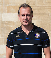 Performance Director David Thompson poses for a portrait at a Bath Rugby photocall. Bath Rugby Media Day on September 8, 2015 at Farleigh House in Bath, England. Photo by: Rogan Thomson for Onside Images