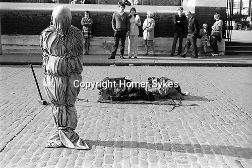 Escapologist Tower Hill, London Uk  1970
