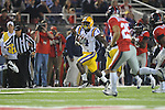 Ole Miss vs. LSU running back Alfred Blue (4) at Vaught-Hemingway Stadium in Oxford, Miss. on Saturday, November 19, 2011.