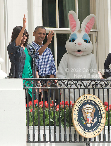 First lady Michelle Obama makes remarks as she and United States President Barack Obama host the 2016 White House Easter Egg Roll on the South Lawn of the White House in Washington, DC on Monday, March 28, 2016.<br /> Credit: Ron Sachs / CNP