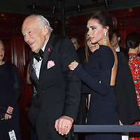 """Leonard Lauder and Victoria Beckham attend The Breast Cancer Research Foundation """"Super Nova"""" Hot Pink Party on May 12, 2017 at the Park Avenue Armory in New York City."""
